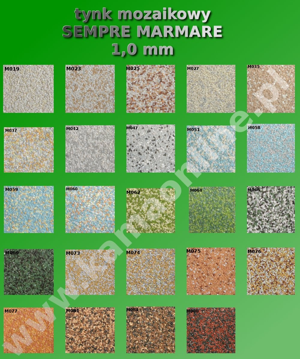 Tynk Mozaikowy Z Brokatem Sempre Marmare 1 0 Mm 25 Kg Kamaonline Pl