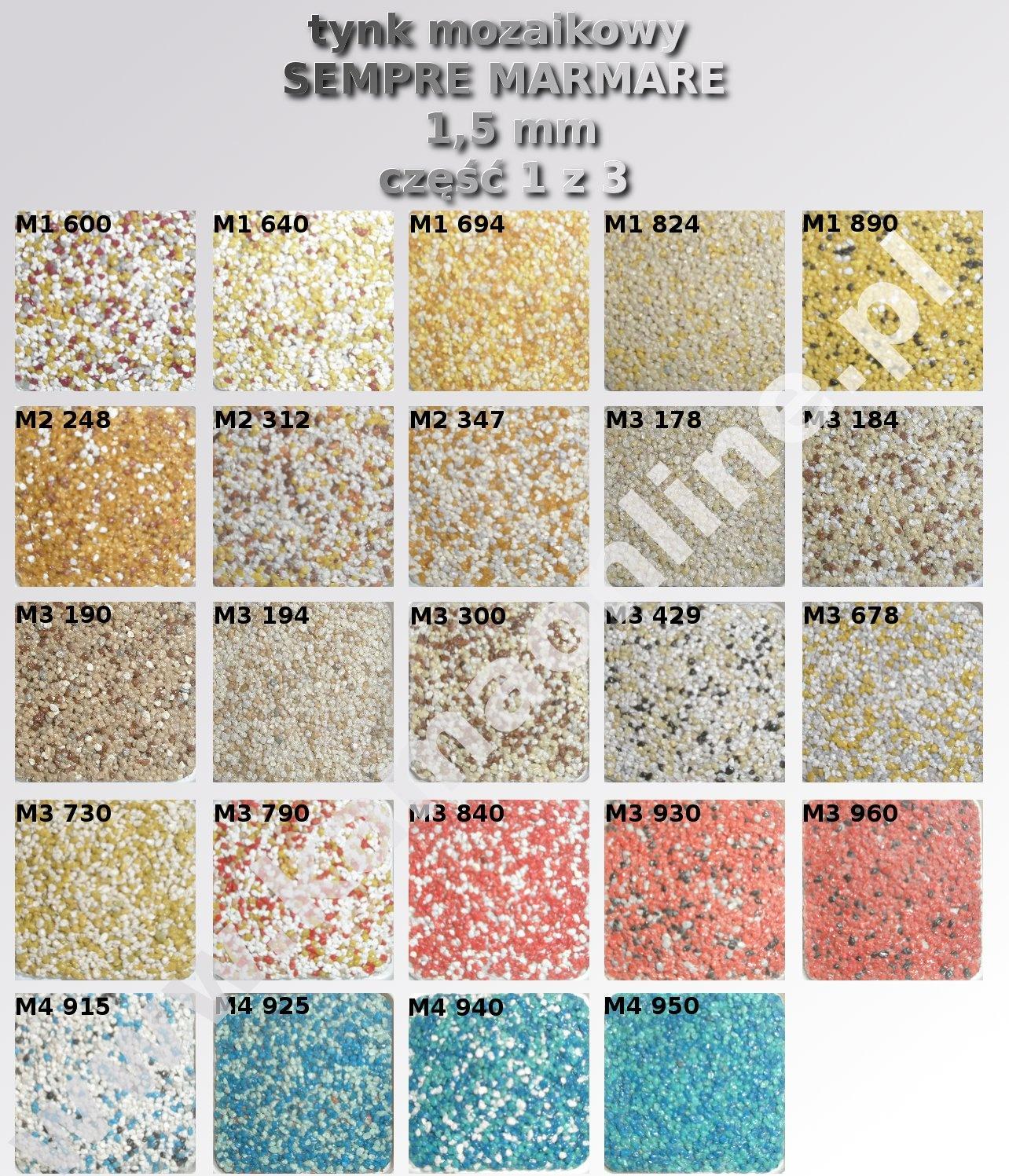 Tynk Mozaikowy Sempre Marmare 1 5 Mm 25 Kg Kamaonline Pl